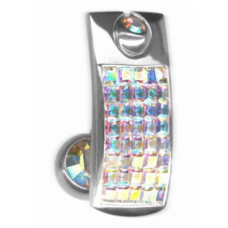 Piercing nombril Crystal Evolution Bouclier Swarovski