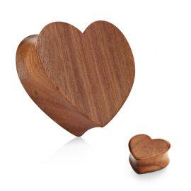 Piercing plug en bois de mérisier coeur
