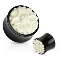 Piercing plug fleur frasera corne de buffle