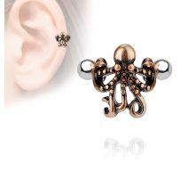 Piercing oreille hélix manchette pieuvre