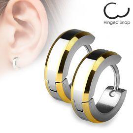 Paire Boucles d'oreille anneaux Bords Dorés
