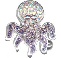 Piercing nombril Crystal Evolution Swarovski Pieuvre