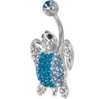 Piercing nombril Crystal Evolution Swarovski Tortue turquoise