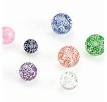 Boule de piercing en acrylique paillettes