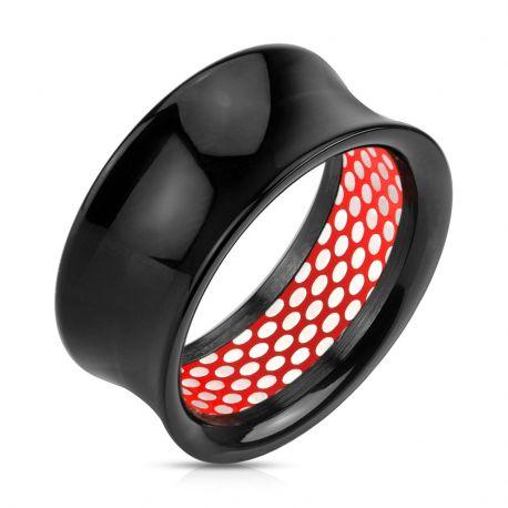 Piercing plug acrylique maille rouge