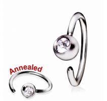 Piercing nez anneau avec strass