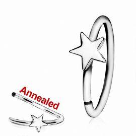 Piercing nez anneau avec étoile