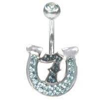 Piercing nombril Crystal Evolution Swarovski Lucky 7 Bleu