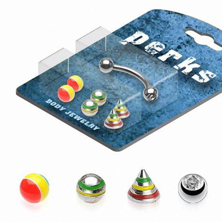 Pack Piercing Arcade Acier chirurgical Jamaïque - Bijou Piercing pour Arcade