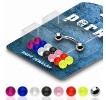 Pack Piercing Arcade Acier chirurgical Billes Acrylique - Bijou Piercing pour Arcade