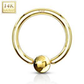 Piercing anneau captif Or Jaune 14 Carats