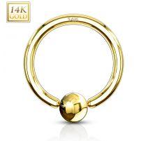 Piercing anneau captif or