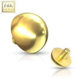 Piercing microdermal Or jaune 14 Carats dôme