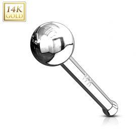 Piercing Nez Or Blanc 14K Stud Boule