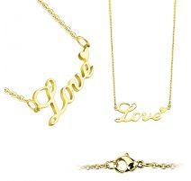 Chaine en acier inoxydable doré avec pendentif LOVE