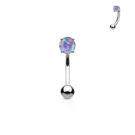 Piercing arcade acier chirurgical opale violette