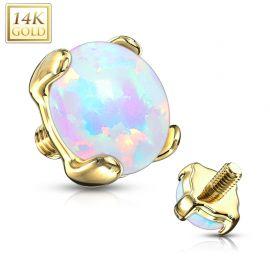 Piercing microdermal opale Or jaune 14 Carats