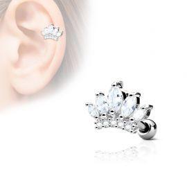 Piercing cartilage hélix tiare gemmes