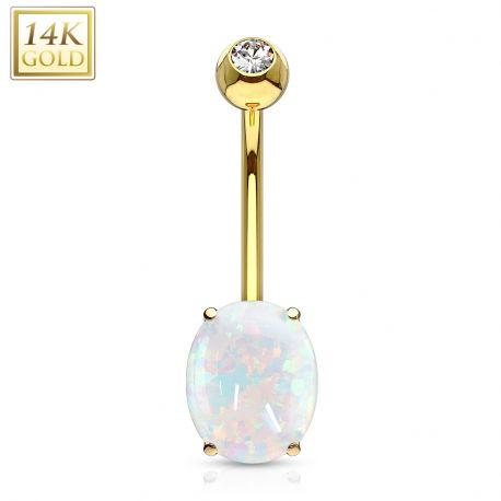 Piercing nombril Or 14 Carats Pierre Opale