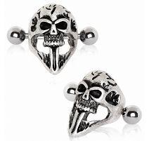 Piercing cartilage hélix manchette masque crâne gothique