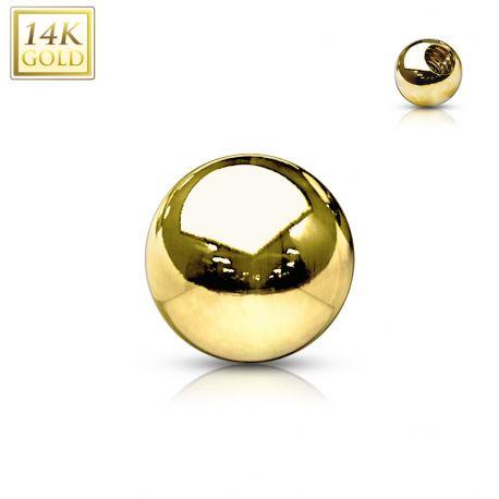 Boule de remplacement pour piercing en or jaune 14 carats