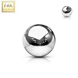 Boule de remplacement pour piercing en or blanc 14 carats