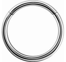 Piercing anneau segment en véritable or blanc 18 carats