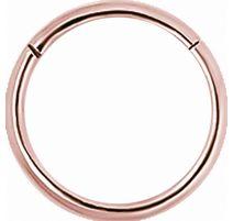 Piercing anneau segment en véritable or rose 18 carats