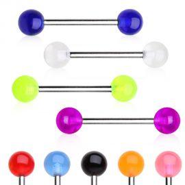 Piercing téton avec boules en acrylique