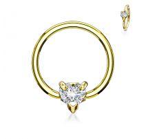 Piercing anneau captif coeur blanc