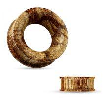 Piercing tunnel en bois de racine creux concave