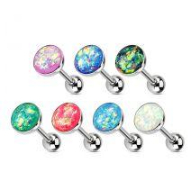 Piercing langue éclats opale