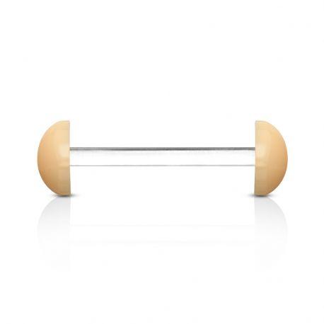 Piercing langue Bioflex avec demi boules