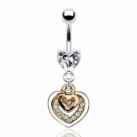 Piercing nombril triple ton coeur