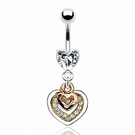 Piercing nombril triple ton coeur