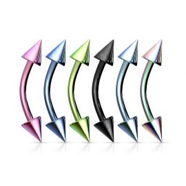 Piercing arcade Titane anodisé avec Pointes