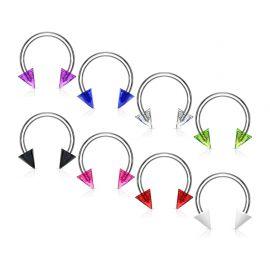 Piercing fer à cheval pointes acrylique