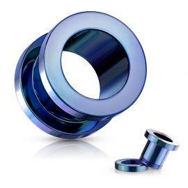 Piercing tunnel en acier Bleu