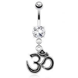 Piercing nombril pendentif symbole Om