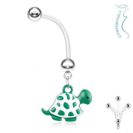 Piercing nombril de grossesse Tortue