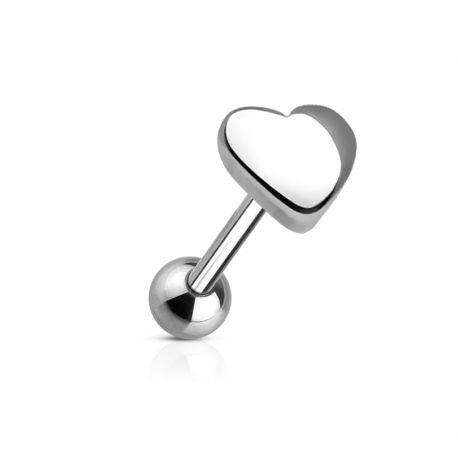 Piercing langue Coeur en acier chirurgical