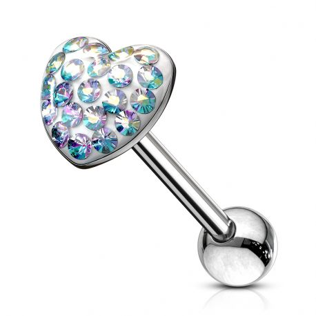 Piercing langue Dome Coeur
