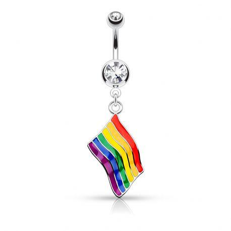 Piercing nombril Drapeau Gay Pride