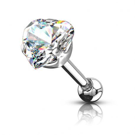 Piercing cartilage pierre coeur