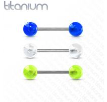 Piercing Langue Barbell Titane G23 Glow in the Dark