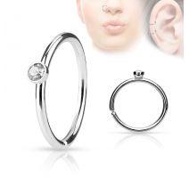 Piercing nez anneau cristal blanc