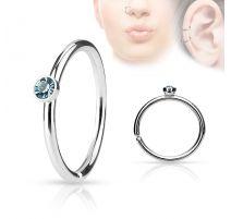 Piercing nez anneau cristal turquoise