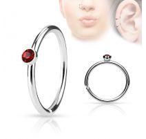 Piercing nez anneau cristal rouge