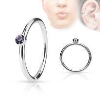 Piercing nez anneau cristal tanzanite