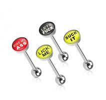 Lot de 4 Piercing langue Sexy